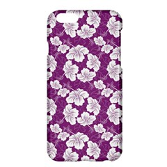 Purple With Hibiscus Flower Hawaiian Patterns Iphone 6 Plus Hardshell Phone Cases by CoolDesigns