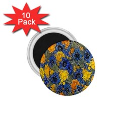 Floral Pattern Background 1 75  Magnets (10 Pack)  by Simbadda