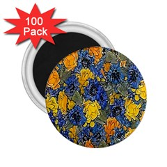 Floral Pattern Background 2 25  Magnets (100 Pack)  by Simbadda