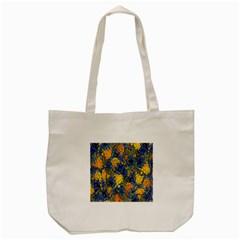Floral Pattern Background Tote Bag (cream) by Simbadda