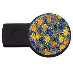 Floral Pattern Background Usb Flash Drive Round (4 Gb) by Simbadda