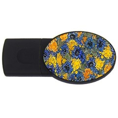 Floral Pattern Background Usb Flash Drive Oval (4 Gb) by Simbadda