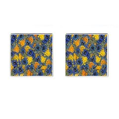 Floral Pattern Background Cufflinks (square) by Simbadda