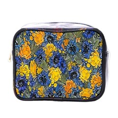 Floral Pattern Background Mini Toiletries Bags by Simbadda