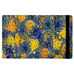 Floral Pattern Background Apple Ipad 2 Flip Case by Simbadda