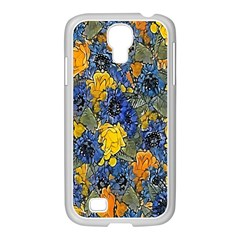 Floral Pattern Background Samsung Galaxy S4 I9500/ I9505 Case (white) by Simbadda