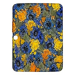 Floral Pattern Background Samsung Galaxy Tab 3 (10 1 ) P5200 Hardshell Case  by Simbadda