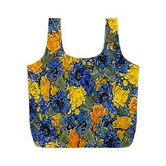 Floral Pattern Background Full Print Recycle Bags (m)  by Simbadda