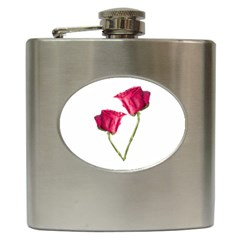 Red Roses Photo Hip Flask (6 Oz) by dflcprints