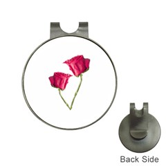 Red Roses Photo Hat Clips With Golf Markers by dflcprints