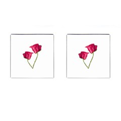 Red Roses Photo Cufflinks (square) by dflcprints