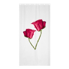 Red Roses Photo Shower Curtain 36  X 72  (stall)  by dflcprints