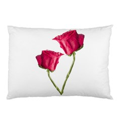 Red Roses Photo Pillow Case (two Sides) by dflcprints