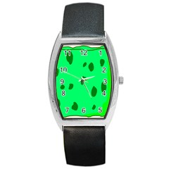 Alien Spon Green Barrel Style Metal Watch by Alisyart