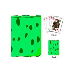Alien Spon Green Playing Cards (mini)  by Alisyart