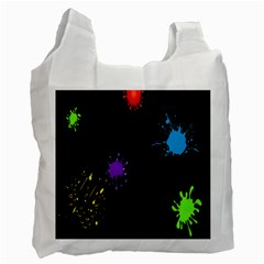Black Camo Spot Green Red Yellow Blue Unifom Army Recycle Bag (one Side) by Alisyart