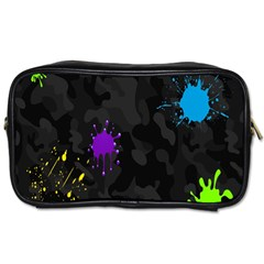 Black Camo Spot Green Red Yellow Blue Unifom Army Toiletries Bags 2 Side by Alisyart