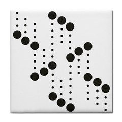 Black Circle Tile Coasters by Alisyart