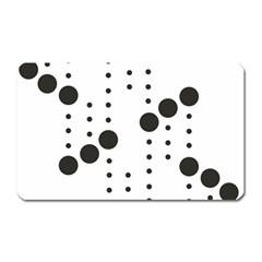 Black Circle Magnet (rectangular) by Alisyart