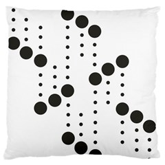 Black Circle Large Flano Cushion Case (one Side) by Alisyart