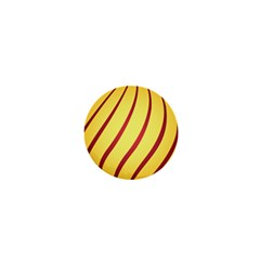 Yellow Striped Easter Egg Gold 1  Mini Buttons by Alisyart
