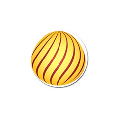 Yellow Striped Easter Egg Gold Golf Ball Marker (4 Pack) by Alisyart