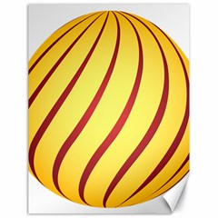 Yellow Striped Easter Egg Gold Canvas 18  X 24   by Alisyart