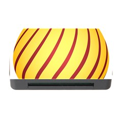 Yellow Striped Easter Egg Gold Memory Card Reader With Cf by Alisyart