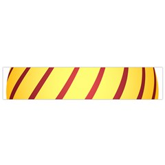 Yellow Striped Easter Egg Gold Flano Scarf (small) by Alisyart