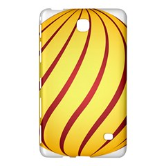 Yellow Striped Easter Egg Gold Samsung Galaxy Tab 4 (7 ) Hardshell Case  by Alisyart
