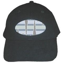 Cavegender Pride Flag Stone Grey Line Black Cap by Alisyart