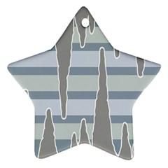 Cavegender Pride Flag Stone Grey Line Ornament (star) by Alisyart
