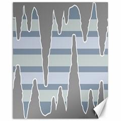 Cavegender Pride Flag Stone Grey Line Canvas 16  X 20   by Alisyart
