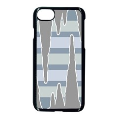Cavegender Pride Flag Stone Grey Line Apple Iphone 7 Seamless Case (black) by Alisyart