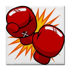 Boxing Gloves Red Orange Sport Tile Coasters by Alisyart