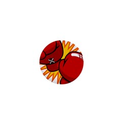 Boxing Gloves Red Orange Sport 1  Mini Buttons by Alisyart