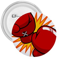Boxing Gloves Red Orange Sport 3  Buttons by Alisyart