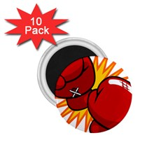 Boxing Gloves Red Orange Sport 1 75  Magnets (10 Pack)  by Alisyart