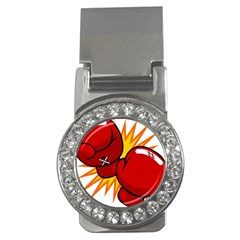 Boxing Gloves Red Orange Sport Money Clips (cz)  by Alisyart