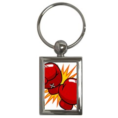 Boxing Gloves Red Orange Sport Key Chains (rectangle)  by Alisyart