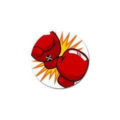 Boxing Gloves Red Orange Sport Golf Ball Marker (10 Pack) by Alisyart