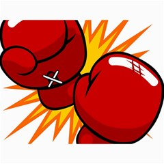 Boxing Gloves Red Orange Sport Canvas 36  X 48   by Alisyart