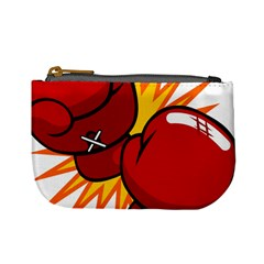 Boxing Gloves Red Orange Sport Mini Coin Purses by Alisyart