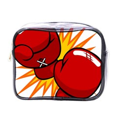 Boxing Gloves Red Orange Sport Mini Toiletries Bags by Alisyart