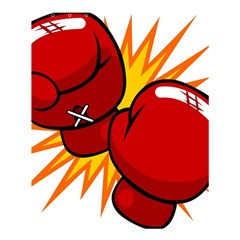 Boxing Gloves Red Orange Sport Shower Curtain 60  X 72  (medium)  by Alisyart