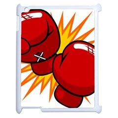 Boxing Gloves Red Orange Sport Apple Ipad 2 Case (white) by Alisyart