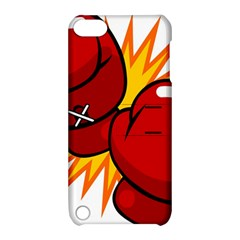 Boxing Gloves Red Orange Sport Apple Ipod Touch 5 Hardshell Case With Stand by Alisyart