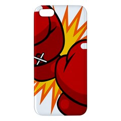 Boxing Gloves Red Orange Sport Apple Iphone 5 Premium Hardshell Case by Alisyart