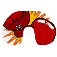 Boxing Gloves Red Orange Sport Travel Neck Pillows by Alisyart