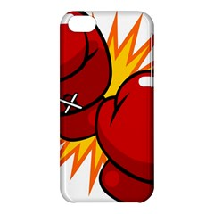 Boxing Gloves Red Orange Sport Apple Iphone 5c Hardshell Case by Alisyart